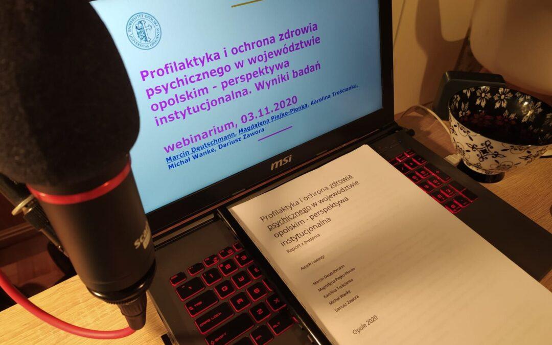 Profilaktyka i ochrona życia psychicznego w województwie opolskim – badania socjologiczne